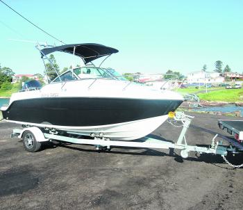 The Atomix 560 Targa with a 115hp 4-stroke Mercury outboard is impressive in and out of the water.