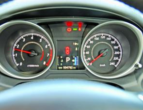 While prominent tacho and speedo dials highlight the instrument panel of the neat Mitsubishi ASX, the positioning of the vehicle's multi function display will also see it monitored with ease.