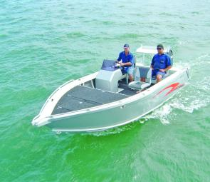 The layout of the Xtreme 520 TC is great for fishing.