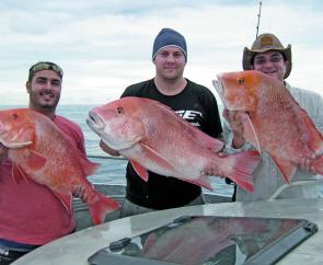 These guys got a great surprise: a triple hook-up on reds!