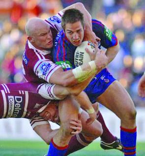 Ben Kennedy had a long and successful NRL career playing for Manly (pictured), Newcastle and Canberra.