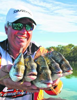 Bream should be plentiful and ready to take lures.