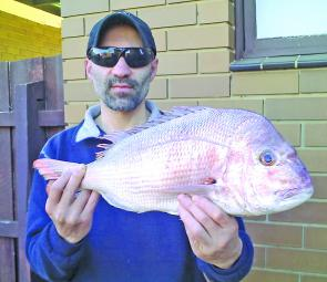 Metin Ugur's reward for putting up with abysmal conditions on the Lorne Pier last month.