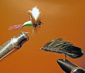 A selection of good early season flies – Matukas and bushy dries.