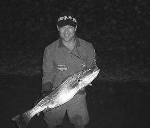 James Devereux, 12, with a Lake Macquarie 2kg jewfish. The best catches have been at night with livebait working well at places like Green Point , Coal Point and Pulbah Island.