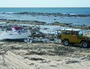 If you own a 4WD vehicle, light aluminum boats can be launched off the beach next to the pier.