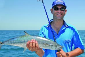 School and spotted mackerel are generally found in surface feeding schools throughout Moreton Bay during December.