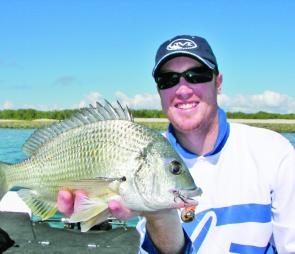 Dave Young sporting a beaut bream taken at Mud Island on an Ecogear CK40.